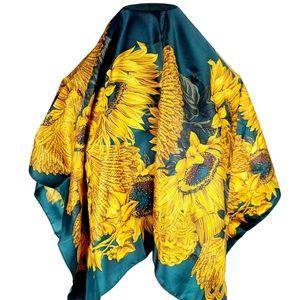 Gianni Biagiotti Sun Flower Silk Scarf